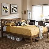 Baxton Studio Trina King Platform Bed in Walnut