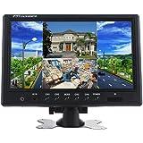 Podofo® 9 Pouces HD 12V 24V Split Quad Moniteur Ecrans d'Appuie-tête 4CH Entrée Vidéo pour Caméra de Recul RV & CCTV Système de Surveillance de Sécurité