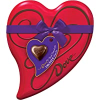 Dove Valentines Dark Chocolate Truffle Hearts, 6.5-oz. Tin