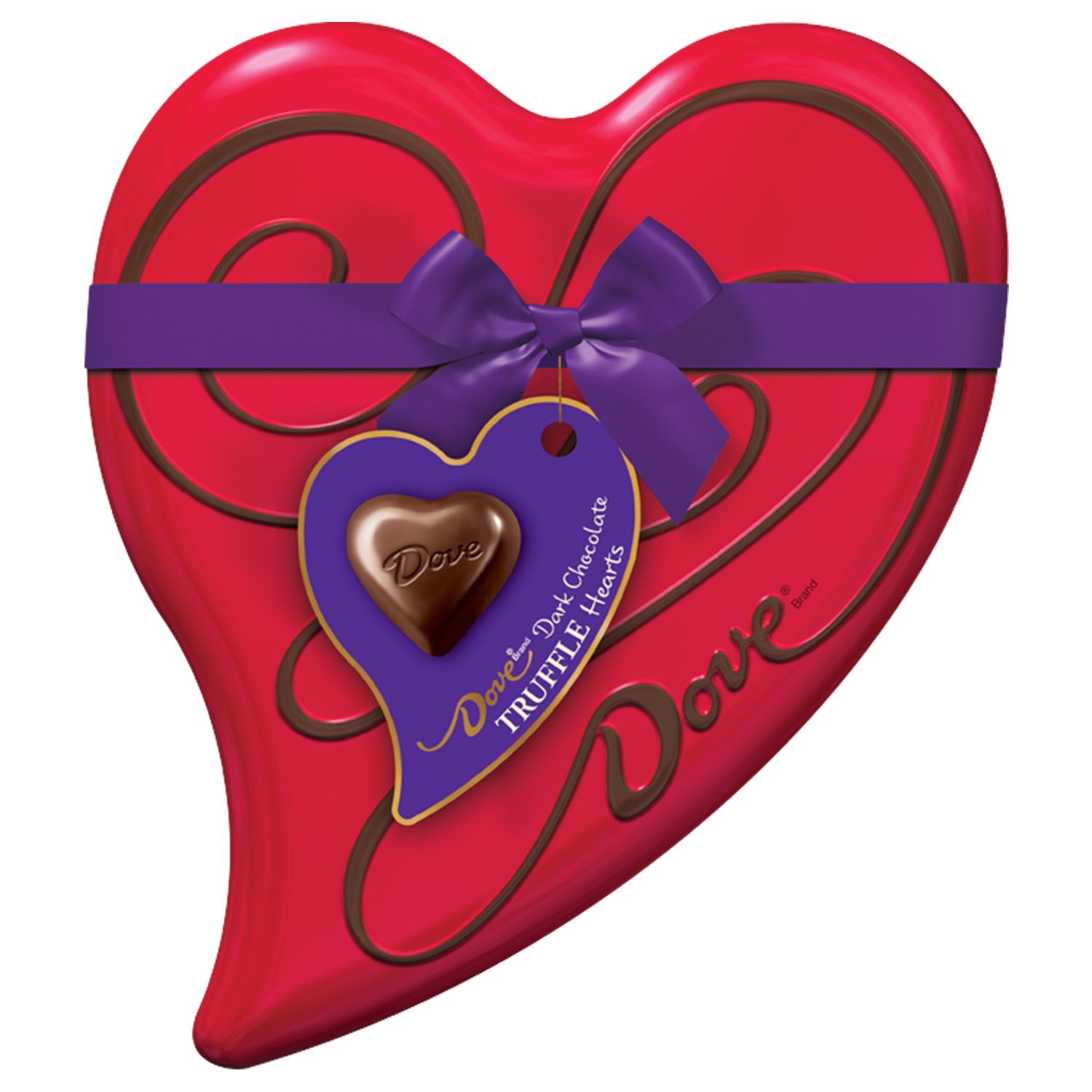 DOVE Valentine's Dark Chocolate Truffles Heart Gift Box 6.5-Ounce Tin