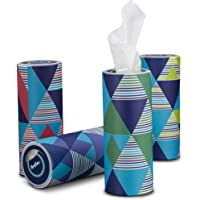Reeflex, 12 Canisters Disposable 2 Ply Designed Perfect Cup Holder Fit Travel Car Canister Facial White Tissues, Soft…
