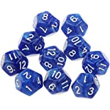 Pack of 10pcs Blue Twelve Sided D12 Dice Playing D&D Warhammer RPG Board Game Favours