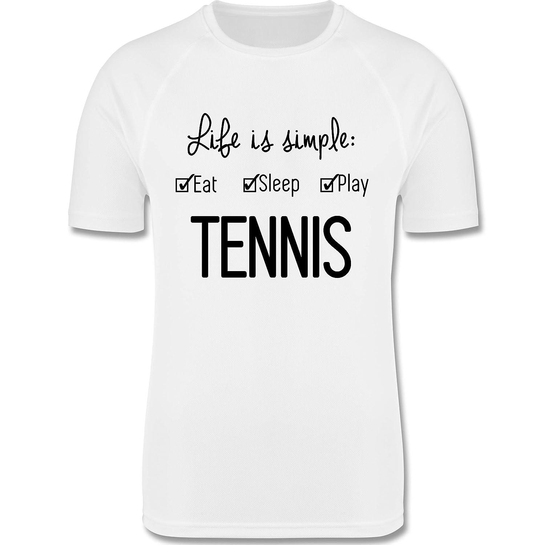 Tennis Squash Spieler atmungsaktives Laufshirt//Funktionsshirt f/ür M/ädchen und Jungen Sport Kind