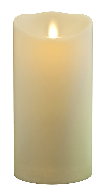 Luminara Kerze, goldfarben, 12,7 cm, Plastik, Plastik, Plastik, elfenbeinfarben, 18 cm f1745c