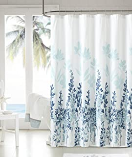 Amazon.com: Tahari Luxury Shower Curtain Printemps 2 Light Dark ...