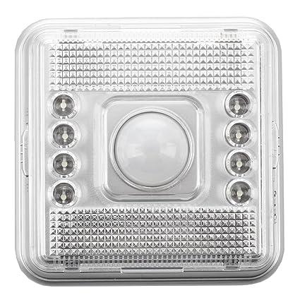 SODIAL(R) 3X 8 LED Lpara IR Infrarrojo Sensor A Movimiento Blanco