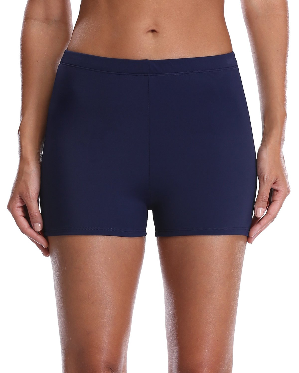 vivicoco Navy Tankini Trunks for Women High Waisted Swim Shorts Solid Bottoms 14