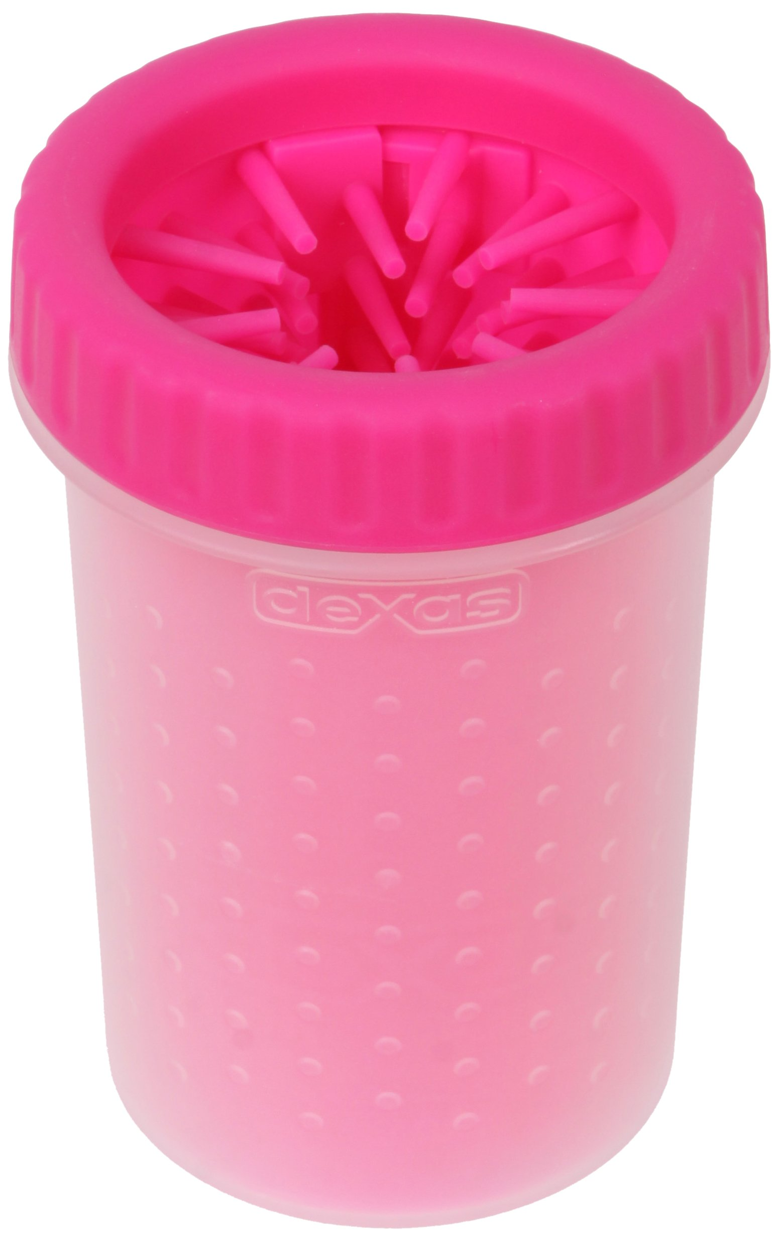 Dexas MudBuster Portable Dog Paw Cleaner, Medium, Pink