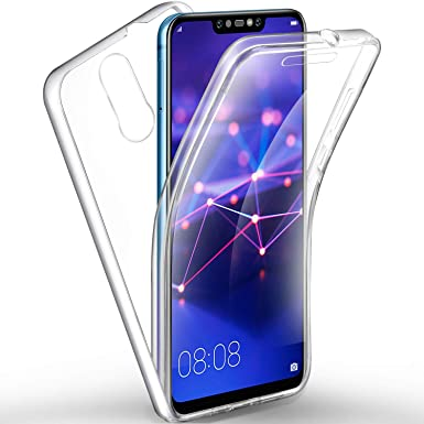reputable site 5f408 28de1 AROYI Huawei Mate 20 Lite Case 360 Degree Protection Phone Case, Silicone  Clear Crystal Full Body Protective Cover [2 in 1 Hard PC Back + Soft TPU ...