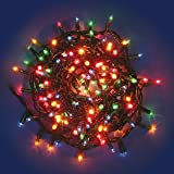 Catena 13,5 m, 300 minilampade multicolor, cavo verde, con memory controller, luci di Natale colorate, luci per l'albero di Natale, luci natalizie per interno