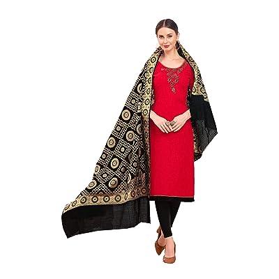 Indian Women Designer Partywear Ethnic Traditonal Red Salwar Kameez.: Ropa y accesorios