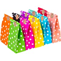 CozofLuv 50 Pack Paper Bags Party Supplies Bags Gift Bag Wedding Favor Bags Birthday Bags for Party Celebrations| Food…