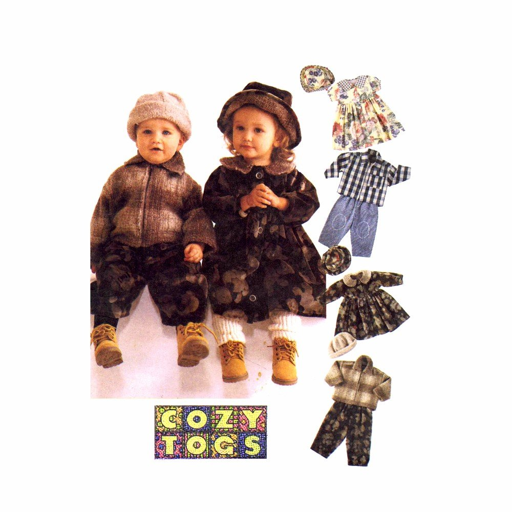 McCall's 8548 Sewing Pattern Toddlers Jacket Dress Pants Cap Hat Size 1 - 2 - 3 by McCall's   B0058988LG