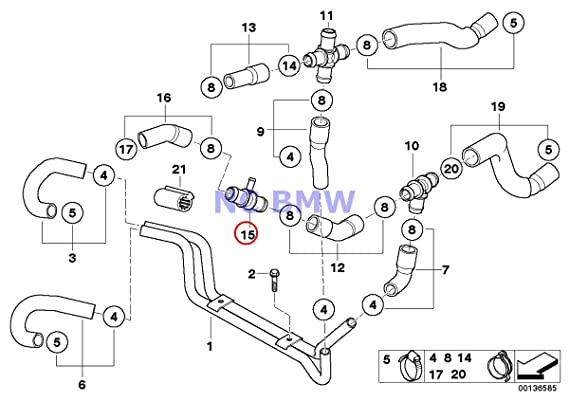 Amazon Com Bmw Mini Genuine Coolant Water Hose T Connector 3 Way