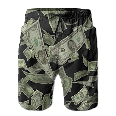 52ac917ef3 Dollar Sign Money Men's Quick Dry Beach Pants Swim Trunks Board Shorts with  Pocket at Amazon Men's Clothing store: