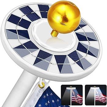 ZIOTI 128 LED Solar Flagpole Light
