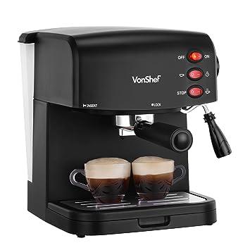 VonShef 15 bar Bomba del café express de la máquina del fabricante - Garantía de 2