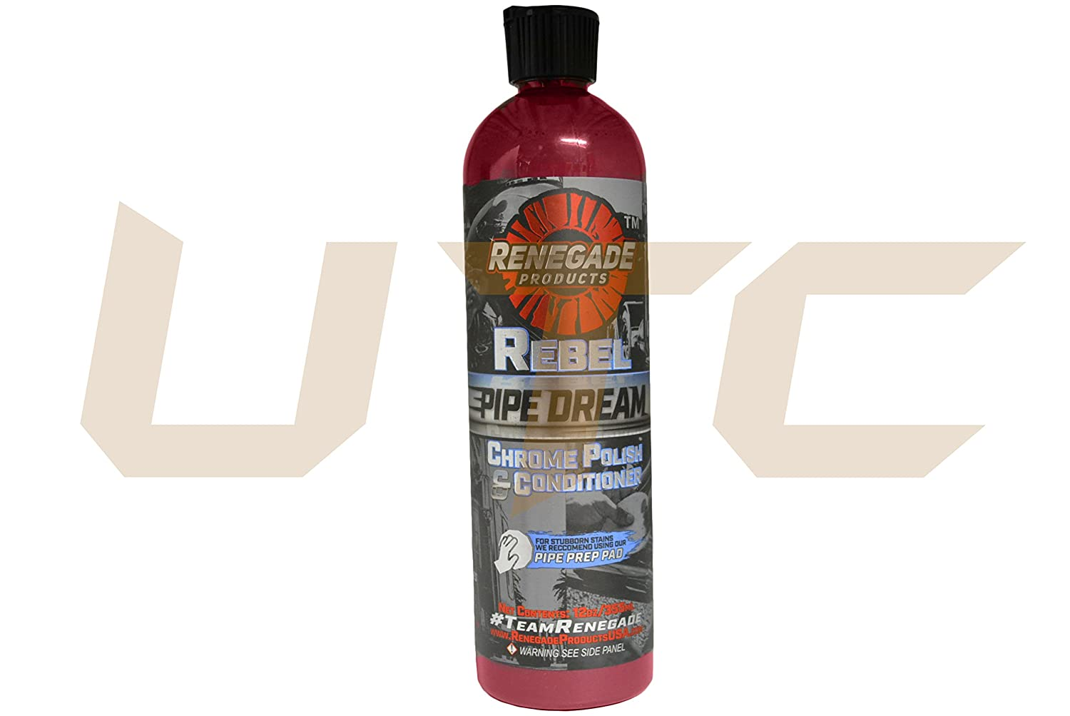 12 Oz Bottle Rebel Pipe Dream Chrome Polish Conditioner Restore Renegade Products USA Shine Luster Maverick