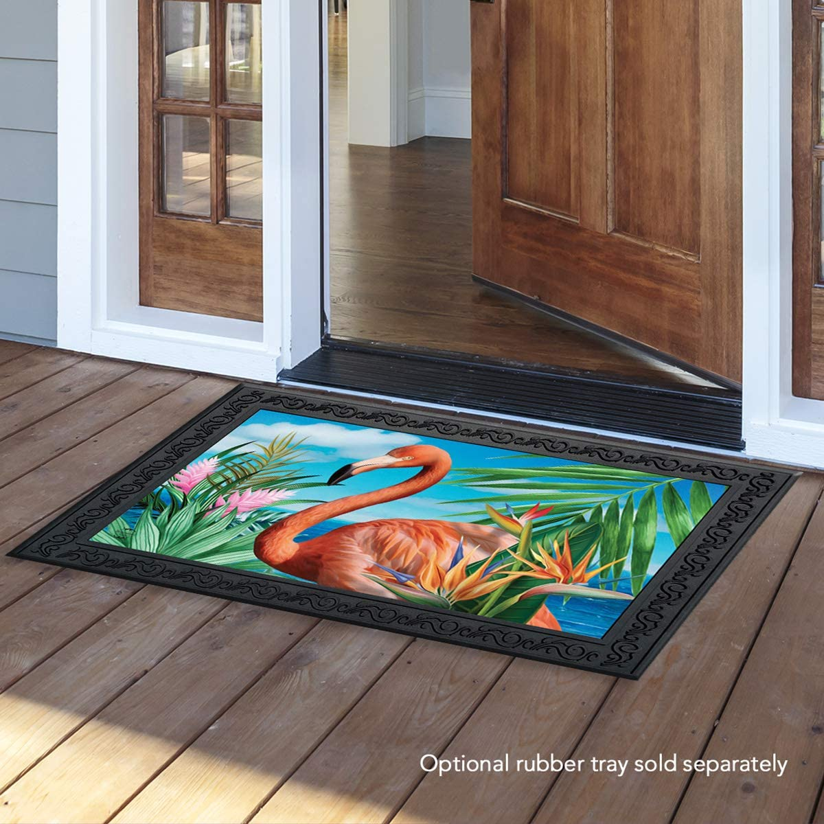 Briarwood Lane Flamingo Paradise Summer Doormat Nautical Indoor Outdoor 18 x 30