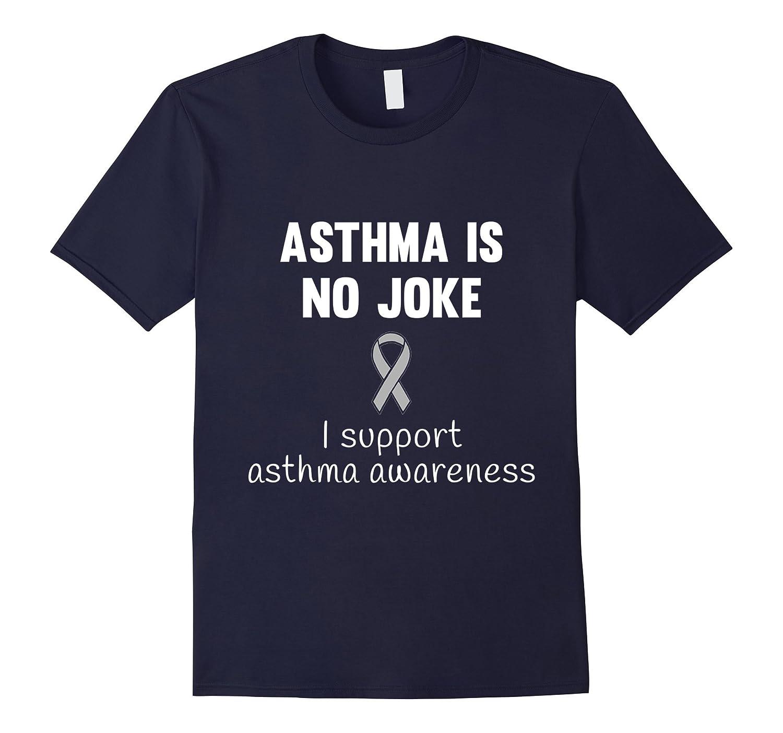 Asthma awareness - Men  Women ribbon support T shirt-CD