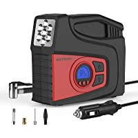 $29 » Meterk Portable Air Compressor Tire Inflator Air Pump for Car Tires DC 12V Tire Pump with…