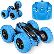 Remote Control car,2.4GHz Electric Race Stunt Car,Double Sided 360° Rolling Rotating Rotation, LED Headlights RC 4WD High Sp
