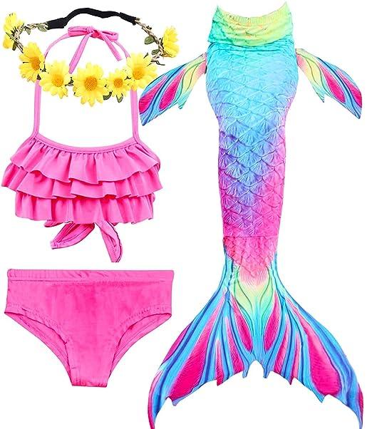 Amazon.com: Garlagy traje de baño de cola de sirena para ...