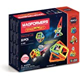 Magformers Space Wow Set (22 Piece) Magnetic Building Blocks, Educational Magnetic Tiles Kit, Magnetic Construction STEM Toy Set includes wheels