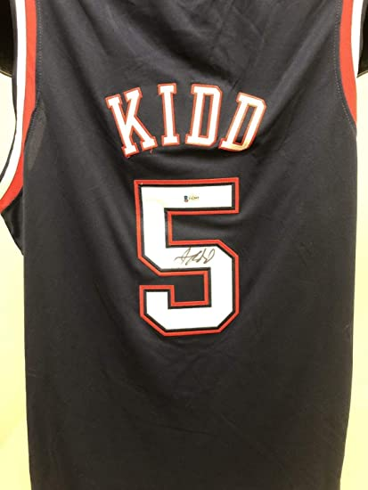 low priced 44a0f 5d0b3 Jason Kidd Autographed Signed New Jersey Nets Jersey Bas ...
