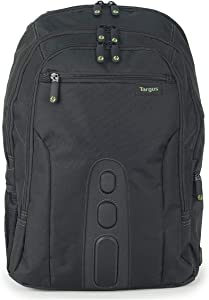 Targus Spruce EcoSmart Travel and Checkpoint-Friendly Laptop Backpack for 15.6-Inch Laptop, Black (TBB013US)