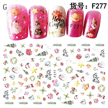 Health & Beauty Christmas 3d Nail Stickers Nail Art Accessories
