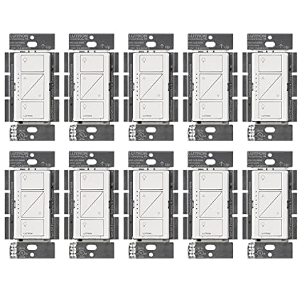 Lutron PD-10NXD-WH Caseta Pro In Wall Dimmer 250W LED (10 Pack) - - Amazon.com