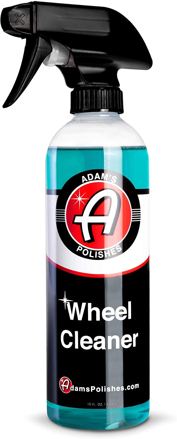 Adam's Wheel Cleaner 16oz – Professional Car Wheel Cleaner Spray & Brake Dust Remover for Car Wash Detailing | Safe Rim Cleaner On Chrome Clear Coated & Plasti Dipped Wheels| Use w/Wheel Brush Woolie: Automotive