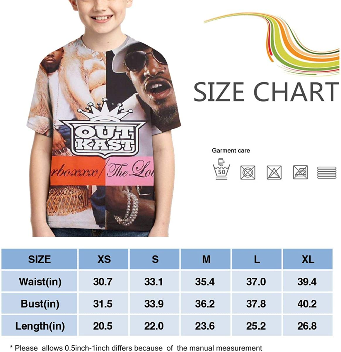 Outkast Speakerbox The Love Below Boys Girls 3D Print Short Sleeve Outdoor T-Shirt Tops Black