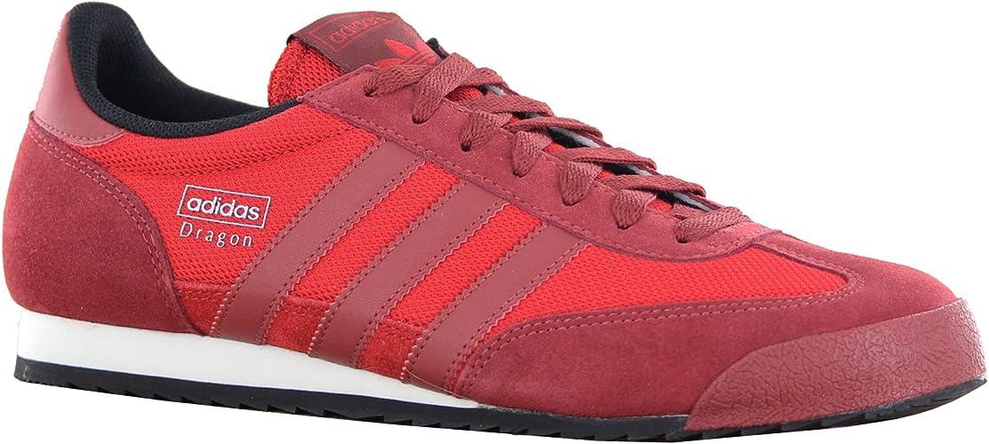 Novela de suspenso siesta armario  Adidas Original Dragon Red Mens Trainers Size 10 UK: Amazon.co.uk: Shoes &  Bags