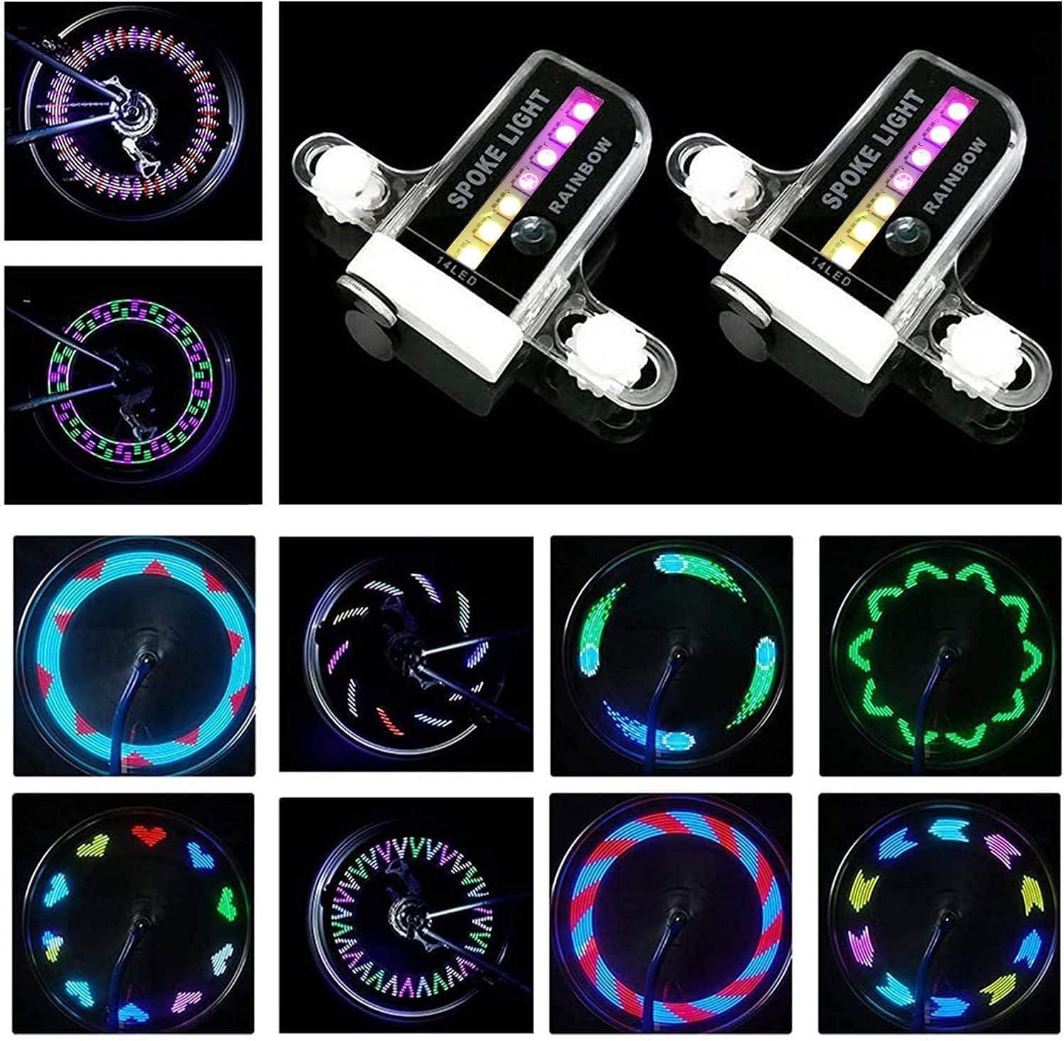 Bicycle Wheel Lights 32 Pattern LED Spoke Signal Light For Bike Tire  Safety Hot