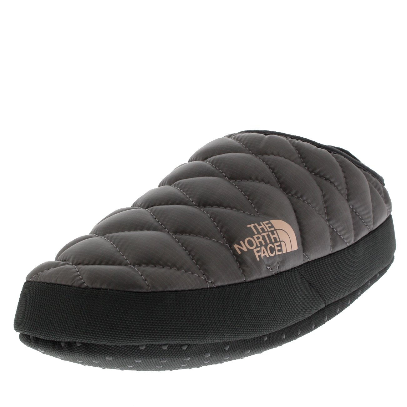 The North Face Womens Thermoball Tent Mule IV Water Resistant Slippers - Shiny Frost Gray/Iron Gate Gray - 8-9.5