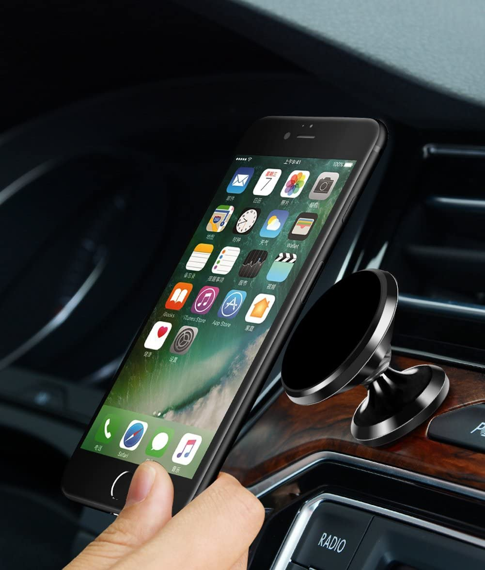 Samsung Galaxy S5//S6//S7//S8 Etc./… Huawei Universal 360/° Rotational Magnetic Phone Holder: Universal Cradle Stand Holder for iPhone 8//X//7//7 Plus//6s//6 Plus//5s LG Aokeo Car Phone Mount