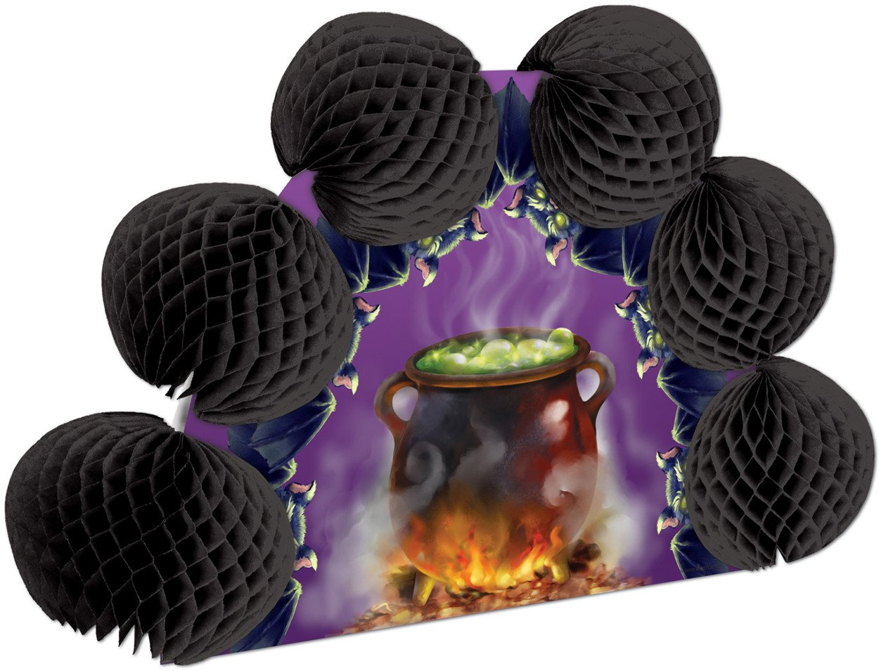 Cauldron & Bats Pop-Over Centerpiece Party Accessory (1 count) (1/Pkg)
