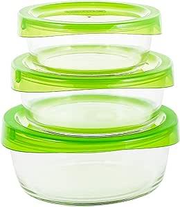 لومينارك طقم علب دائرية لحفظ و تخزين الطعام - 3 قطع