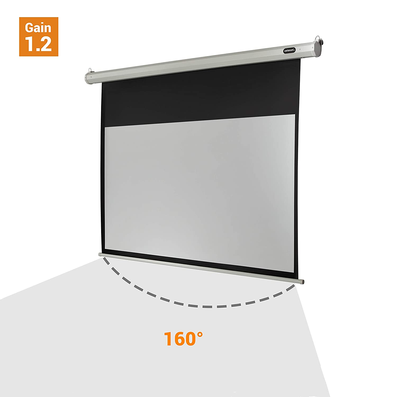 Projektor-Leinwand 100 Zoll 16:9 manuell ausziehbares Rollo 4K//8K Ultra HDR 3D Ready Basics 254 cm