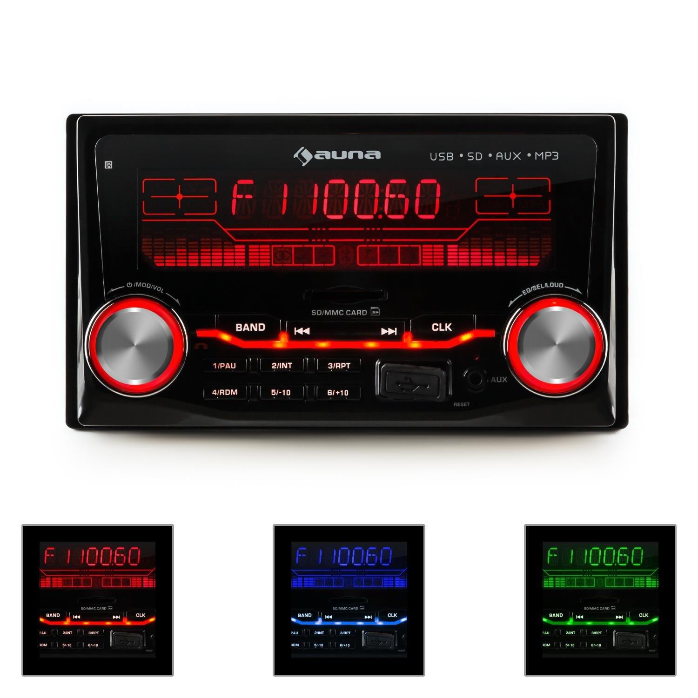 Auna MD-200 2G Car Radio USB SD MP3 AUX Radio Recording: Amazon.co ...