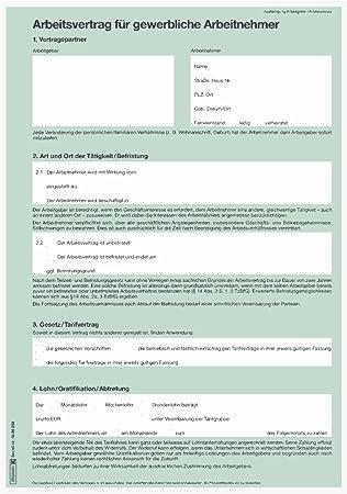 Baier Schneider Vertragsformular Arbeitsvertrag Gewerblich
