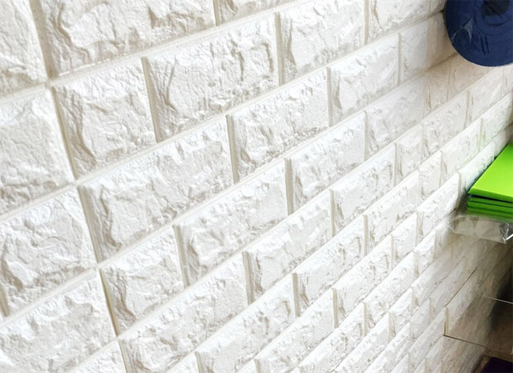 壁紙 レンガ シール クッションブリック 大判 立体 リメイクシート 壁 DIY リフォーム 77×70cm (10枚) B07D6D271J 10枚 10枚