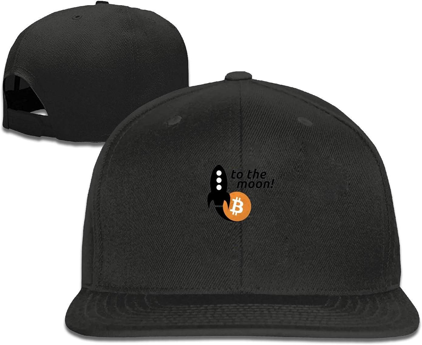 ETXHU Gorra de béisbol de Bitcoin a la Luna para Hombre ...