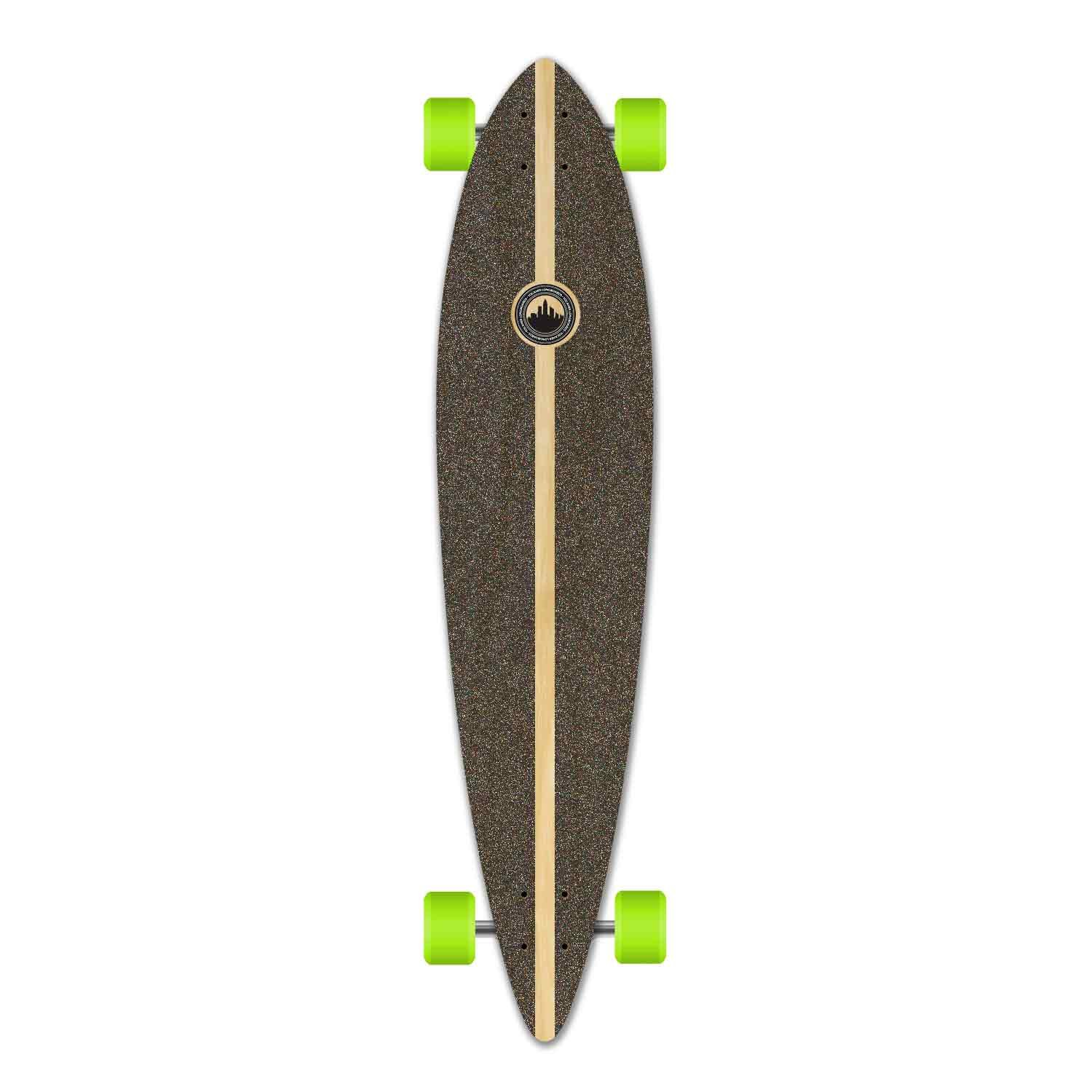 Yocaher Pintail Flat Pro Longboard Complete Cruiser Freeride Skateboard and Decks