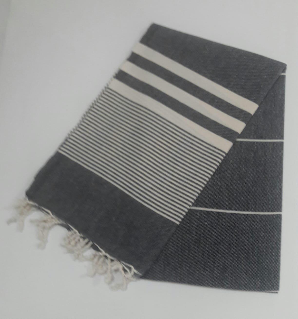Paramus Turkish Cotton Bath Beach Spa Hammam Yoga Gym Yacht Hamam Towel Wrap Pareo Fouta Throw Peshtemal Pestemal Sheet Blanket (Black, 1)