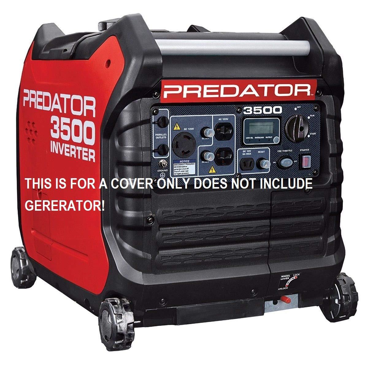 GCD Predator 3500 watt Generator Cover Custom Fit (Black) in Stock by GCD