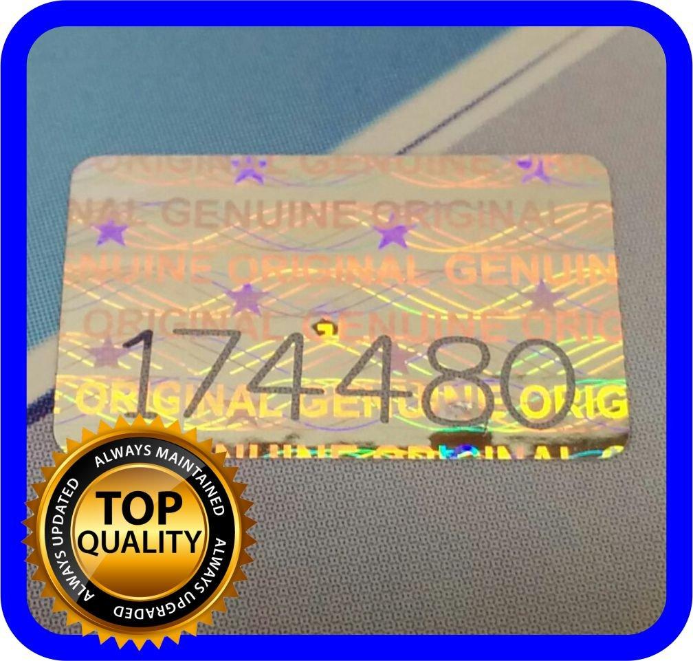 200 Etiquetas Seguridad Numeradas con Holograma (1.6x1cm)