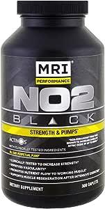 MRI NO2 Black Strength & Pumps NOS-Enhanced Hemodilator 300 Caplets